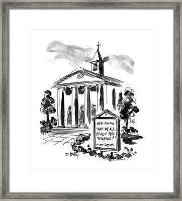 New Yorker April 22nd, 1996 Framed Print