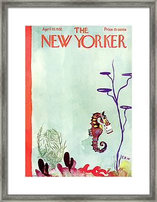 New Yorker April 23rd, 1932 Framed Print by E B White