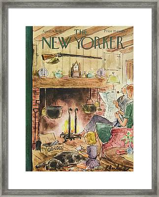 New Yorker April 24th, 1948 Framed Print