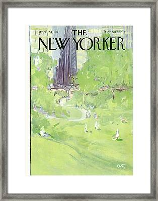 New Yorker April 24th, 1971 Framed Print by Arthur Getz