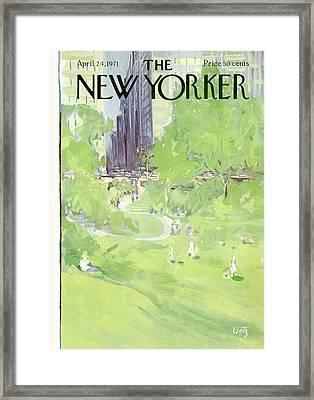 New Yorker April 24th, 1971 Framed Print