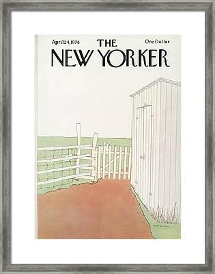 New Yorker April 24th, 1978 Framed Print