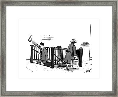 New Yorker April 24th, 1995 Framed Print by Tom Cheney