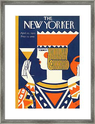 New Yorker April 25th, 1925 Framed Print by Ilonka Karasz
