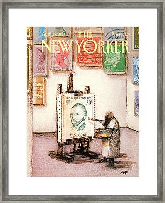 New Yorker April 25th, 1988 Framed Print