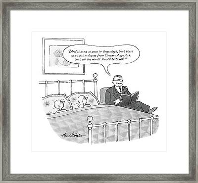 New Yorker April 25th, 1988 Framed Print by J.B. Handelsman