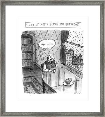 New Yorker April 25th, 1994 Framed Print