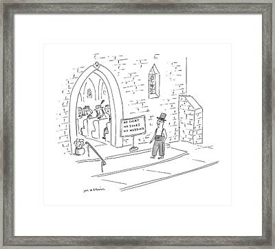 New Yorker April 26th, 1999 Framed Print by Michael Maslin