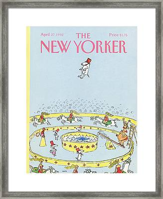 New Yorker April 27th, 1992 Framed Print by George Booth