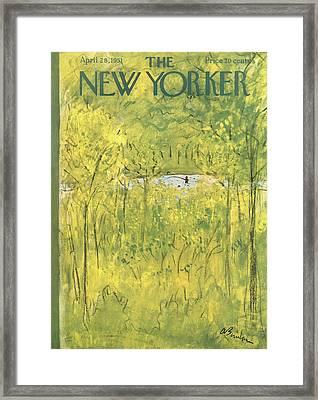 New Yorker April 28th, 1951 Framed Print by Abe Birnbaum