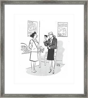New Yorker April 29th, 1944 Framed Print