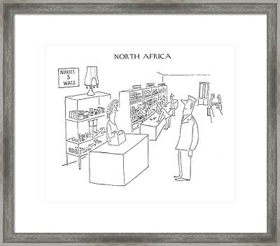 New Yorker April 29th, 1944 Framed Print by Saul Steinberg