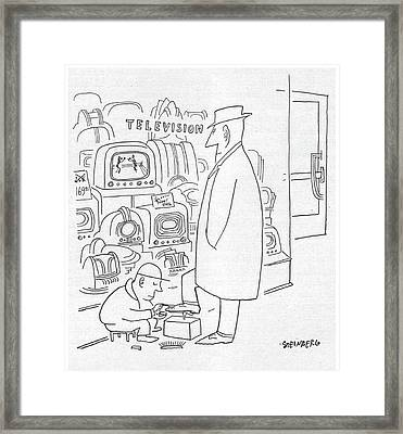 New Yorker April 29th, 1950 Framed Print by Saul Steinberg