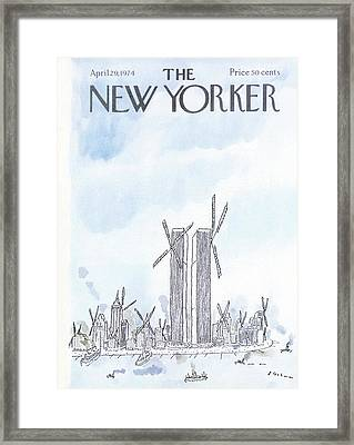 New Yorker April 29th, 1974 Framed Print by R.O. Blechman