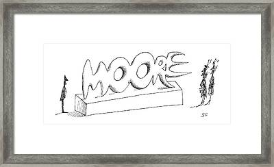 New Yorker April 2nd, 1966 Framed Print by Saul Steinberg