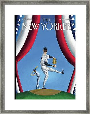 New Yorker April 2nd, 2001 Framed Print by Mark Ulriksen