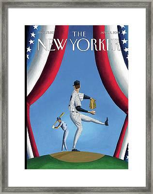 New Yorker April 2nd, 2001 Framed Print