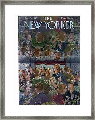 New Yorker April 30th, 1949 Framed Print by Constantin Alajalov