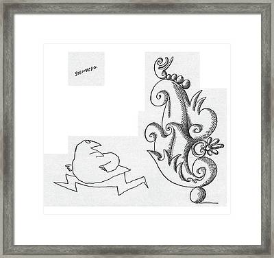 New Yorker April 30th, 1960 Framed Print by Saul Steinberg