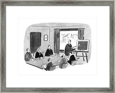 New Yorker April 30th, 1990 Framed Print by Danny Shanahan