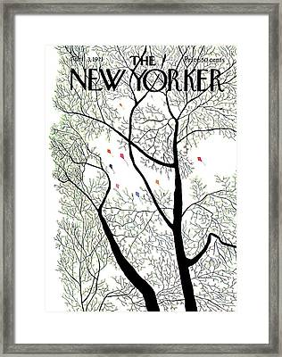 New Yorker April 3rd, 1971 Framed Print by Raymond Davidson