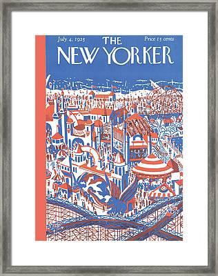 New Yorker April 4th, 1925 Framed Print by Ilonka Karasz