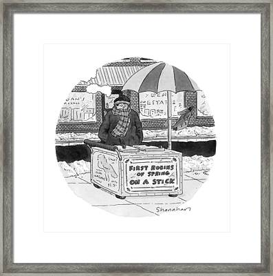 New Yorker April 4th, 1994 Framed Print by Danny Shanahan
