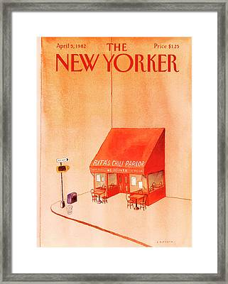 New Yorker April 5th, 1982 Framed Print by Abel Quezada