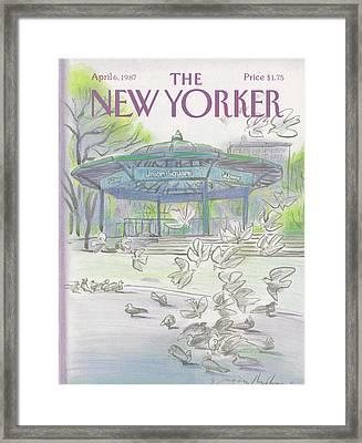 New Yorker April 6th, 1987 Framed Print by Eugene Mihaesco