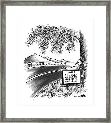 New Yorker April 6th, 1987 Framed Print by Henry Martin