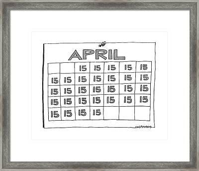 New Yorker April 7th, 1986 Framed Print by Mick Stevens