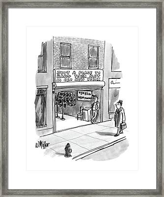New Yorker April 7th, 1986 Framed Print