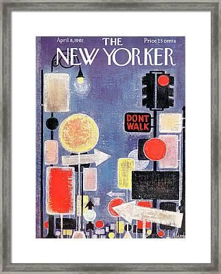 New Yorker April 8th, 1961 Framed Print