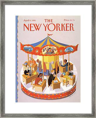 New Yorker April 8th, 1991 Framed Print by Kathy Osborn