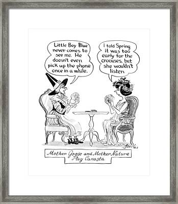 New Yorker April 9th, 1990 Framed Print by Edward Frascino