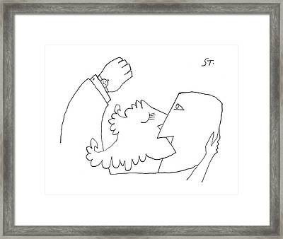 New Yorker August 10th, 1957 Framed Print by Saul Steinberg