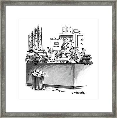 New Yorker August 10th, 1987 Framed Print by Henry Martin