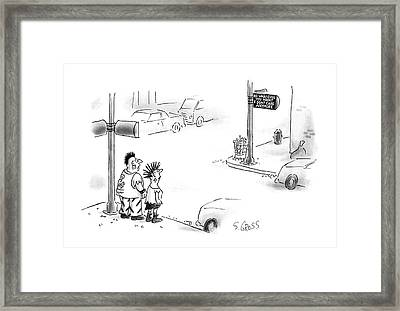 New Yorker August 10th, 1987 Framed Print by Sam Gross