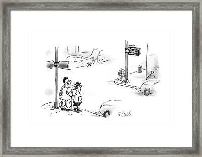 New Yorker August 10th, 1987 Framed Print