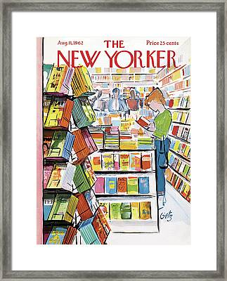 New Yorker August 11th, 1962 Framed Print