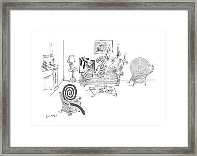 New Yorker August 11th, 1962 Framed Print by Saul Steinberg