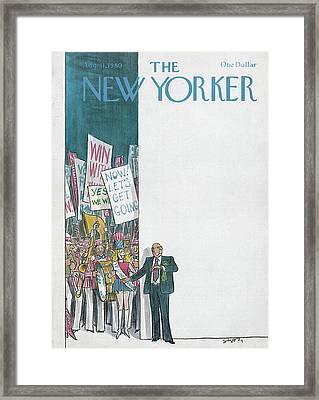 New Yorker August 11th, 1980 Framed Print