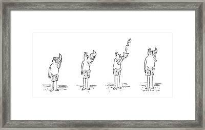 New Yorker August 11th, 1986 Framed Print by Bill Woodman