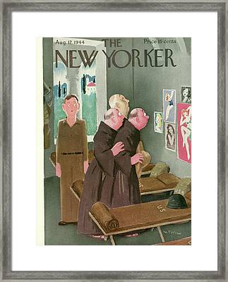 New Yorker August 12th, 1944 Framed Print by Will Cotton