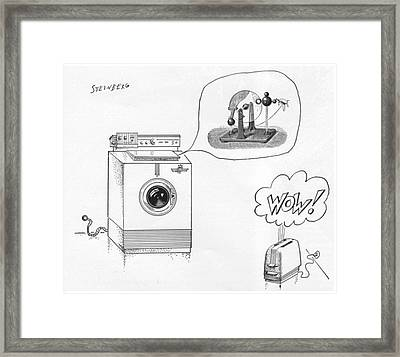 New Yorker August 12th, 1961 Framed Print by Saul Steinberg