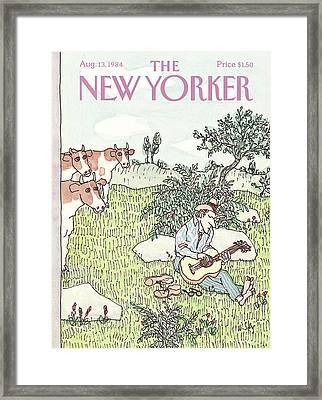 New Yorker August 13th, 1984 Framed Print by William Steig
