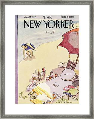 New Yorker August 14th, 1937 Framed Print