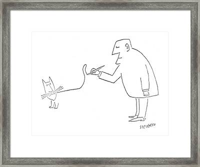 New Yorker August 14th, 1954 Framed Print by Saul Steinberg