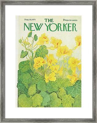 New Yorker August 14th, 1971 Framed Print by Ilonka Karasz