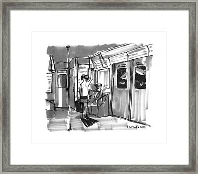 New Yorker August 14th, 1995 Framed Print by Michael Crawford